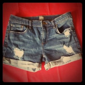 Soho New York & Co Jean Distressed Shorts